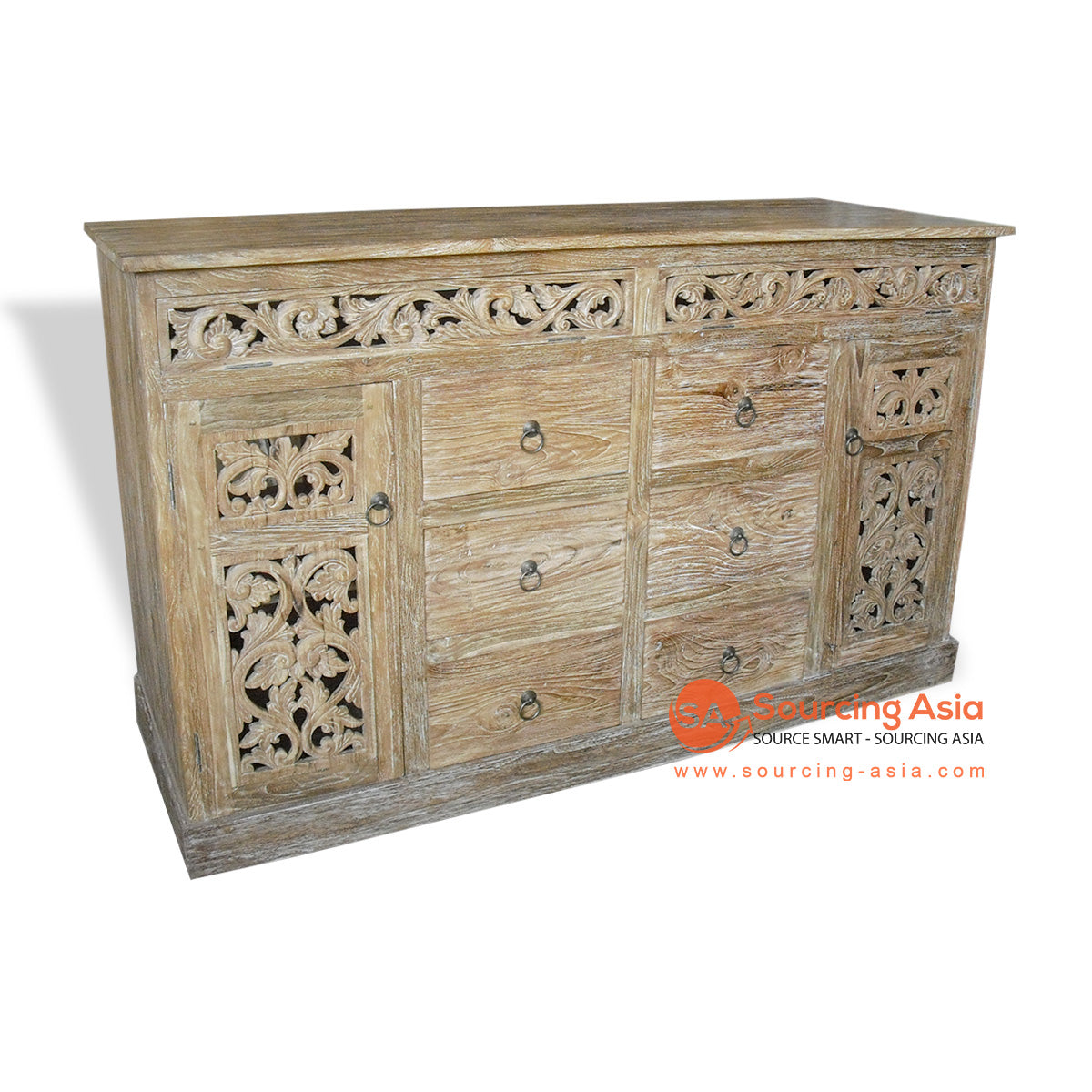 KYT-JQSP001 CARVED BUFFET WITH 2 DOORS 6 DRAWERS