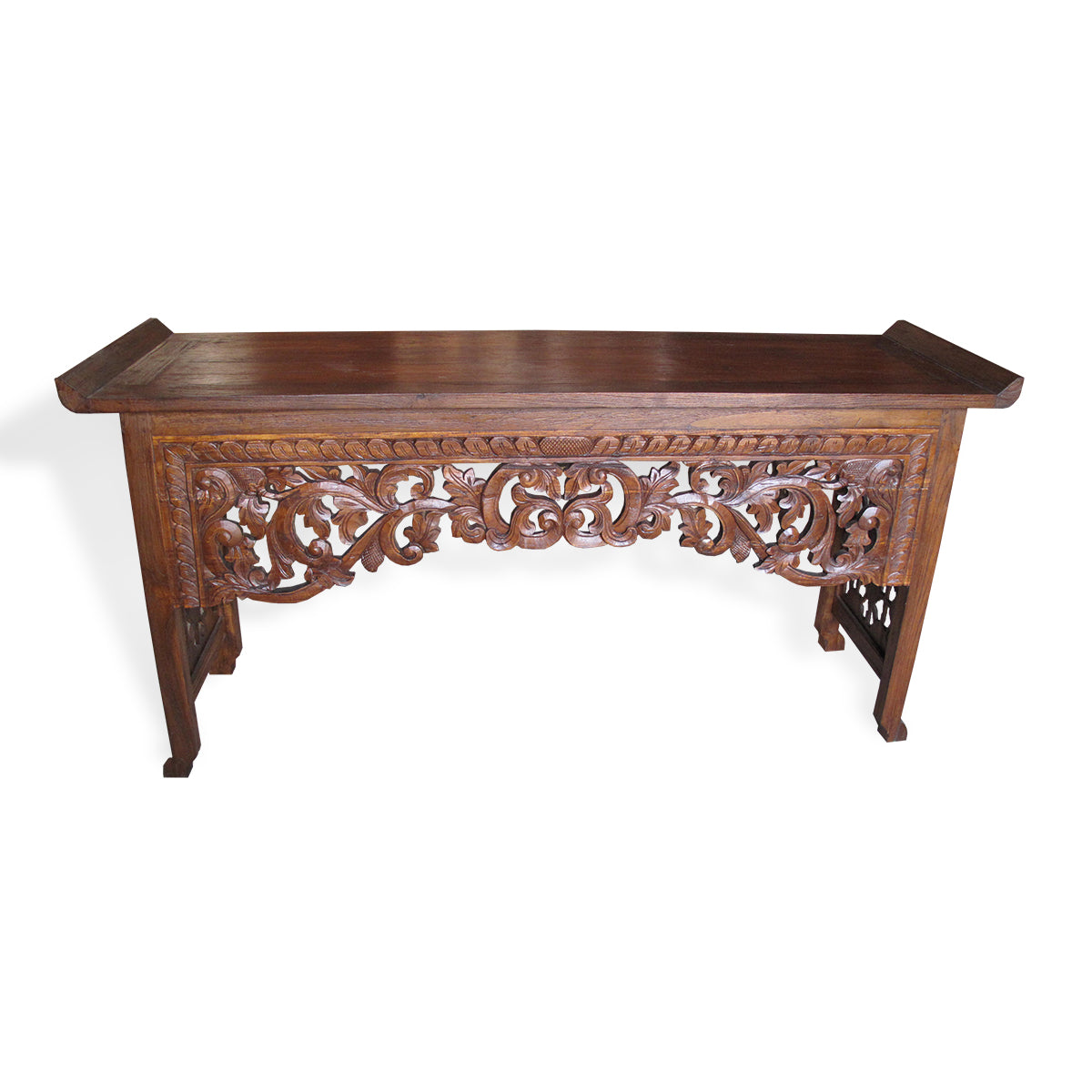 LAC046-1 CARVED RECYCLED TEAK CONSOLE