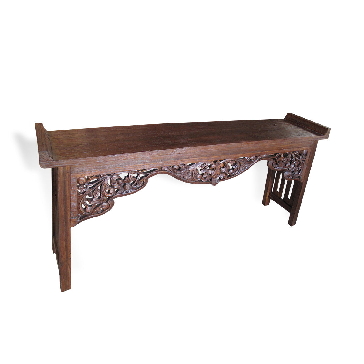 LAC047-1 CARVED RECYCLED TEAK CONSOLE
