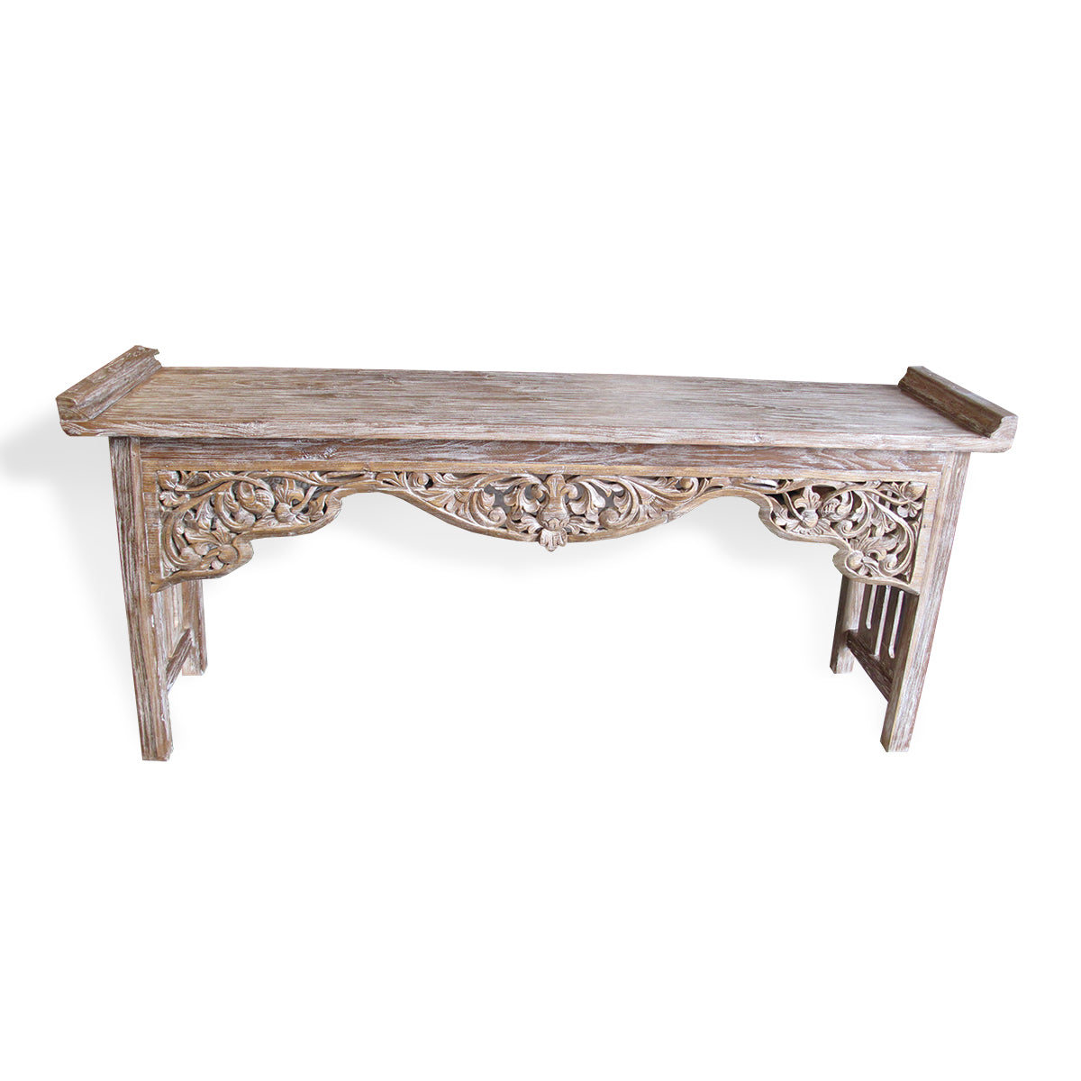 LAC047 CARVED RECYCLED TEAK CONSOLE