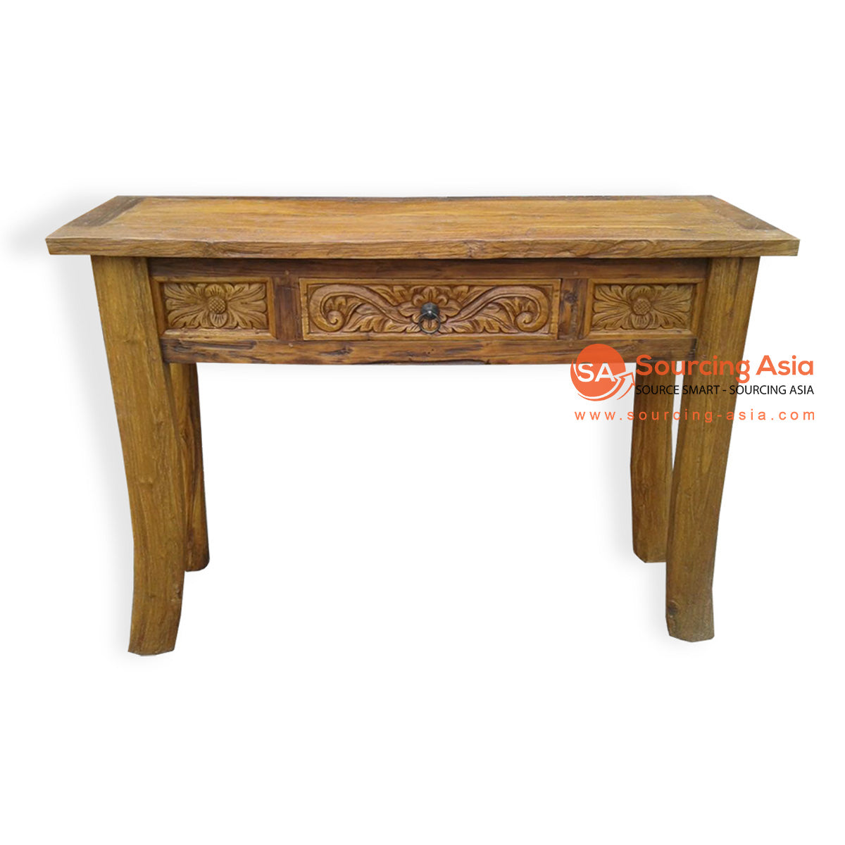 LAC053 CARVED CONSOLE 1 DRAWER