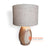 LB-BMW005 TEAK VASE LAMP WITH GUNNY LAMP SHADE & AUSSIE CABLE