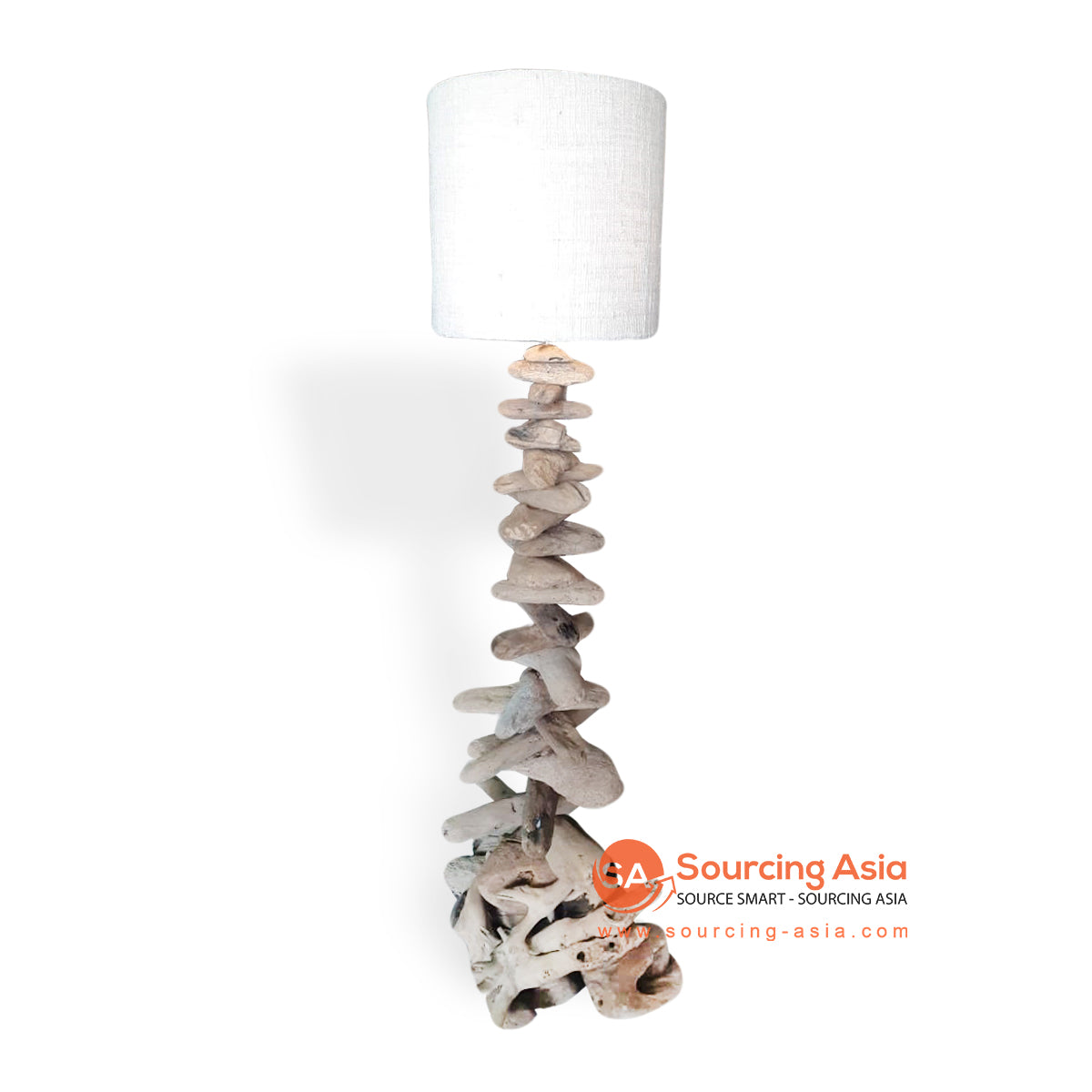 LB033 DRIFTWOOD LAMP WITH VINYL LAMP SHADE