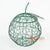 LISC050 HAND PAINTED GREEN METAL APPLE DECORATION