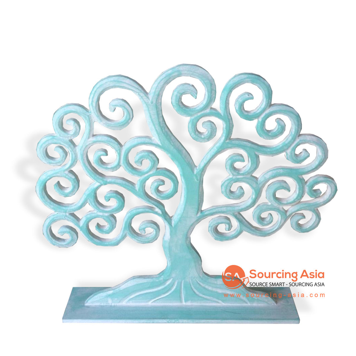 LUH021-30TU WOODEN TREE DECORATION ON STAND