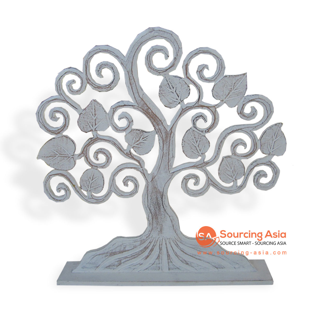 LUH025-40 WOODEN TREE DECORATION ON STAND