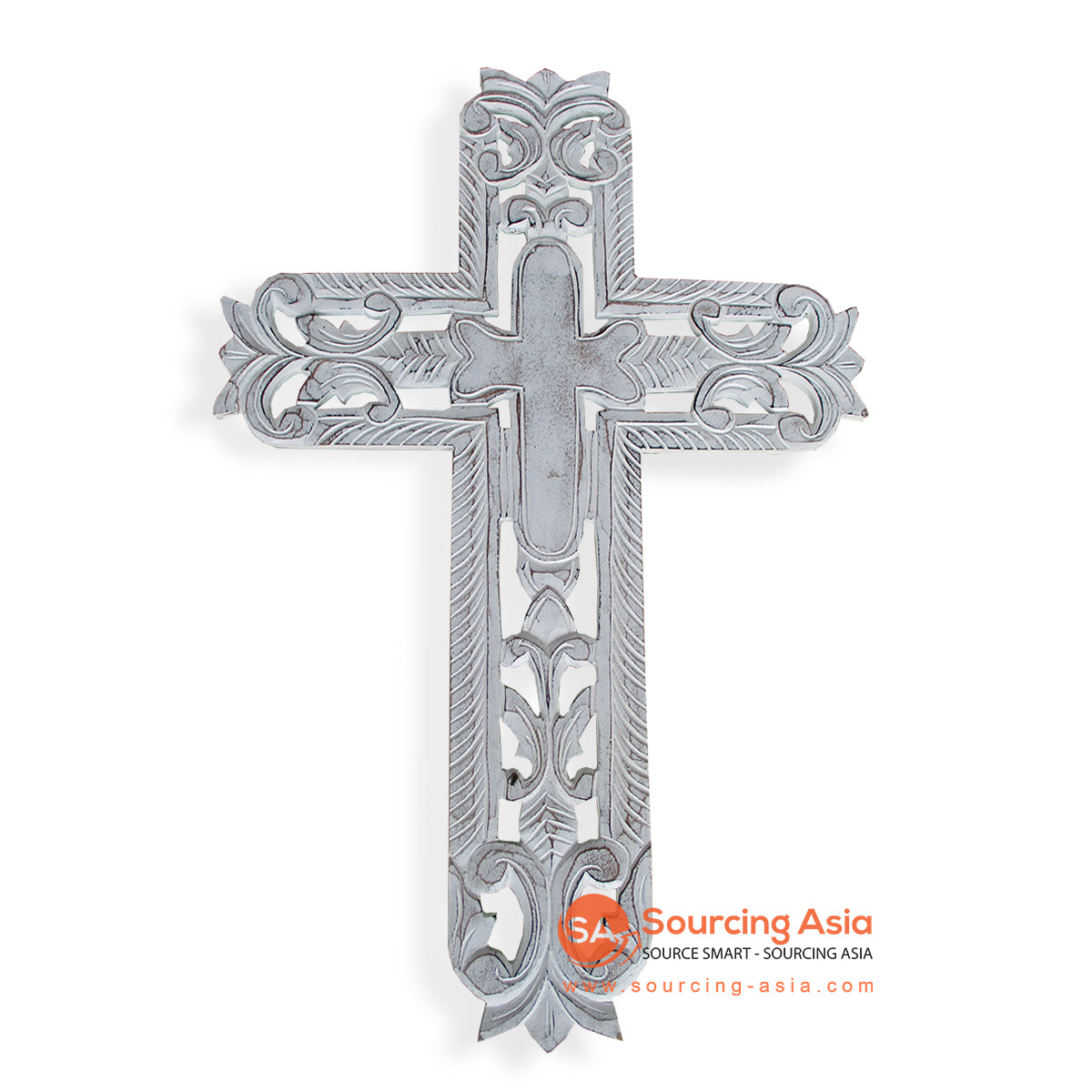 LUH045-1 WOODEN CROSS WITH CARVING