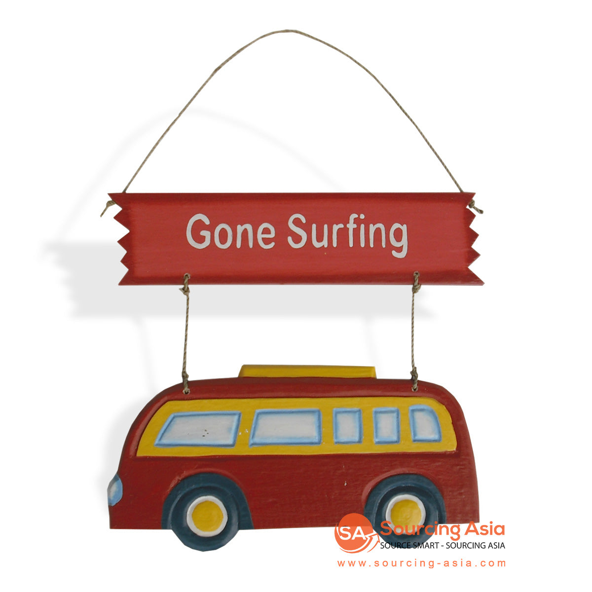 "MDC32-COMBI DECORATIVE SIGN ""GONE SURFING"""