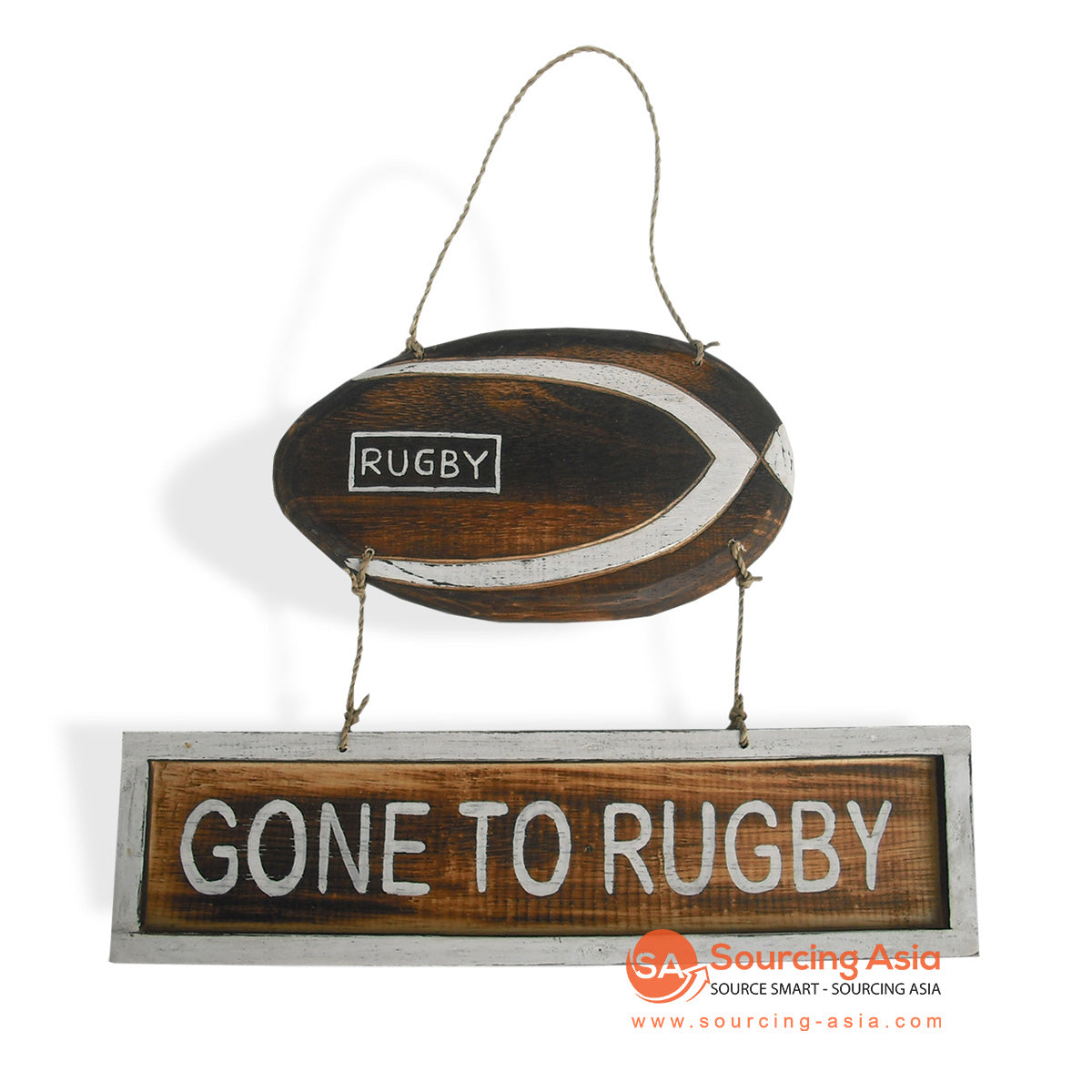 "MDC44-1 DECORATIVE SIGN ""GONE TO RUGBY"""