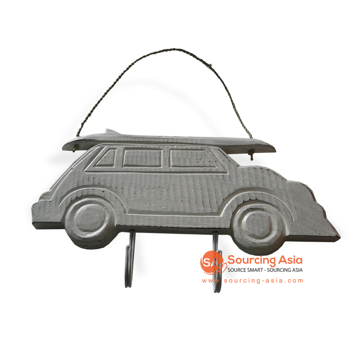 MDC51-1 WOODEN CAR WITH 2 HOOK