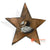 MDC76 WOODEN STAR DECORATION