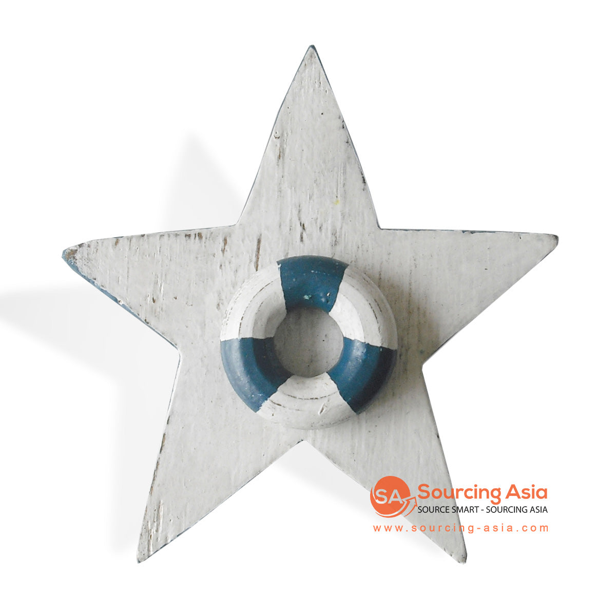 MDC82 WOODEN STAR DECORATION
