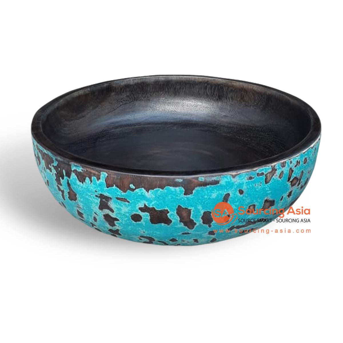 MENT5025 MENTAWI WOODEN BOWL PAINTED