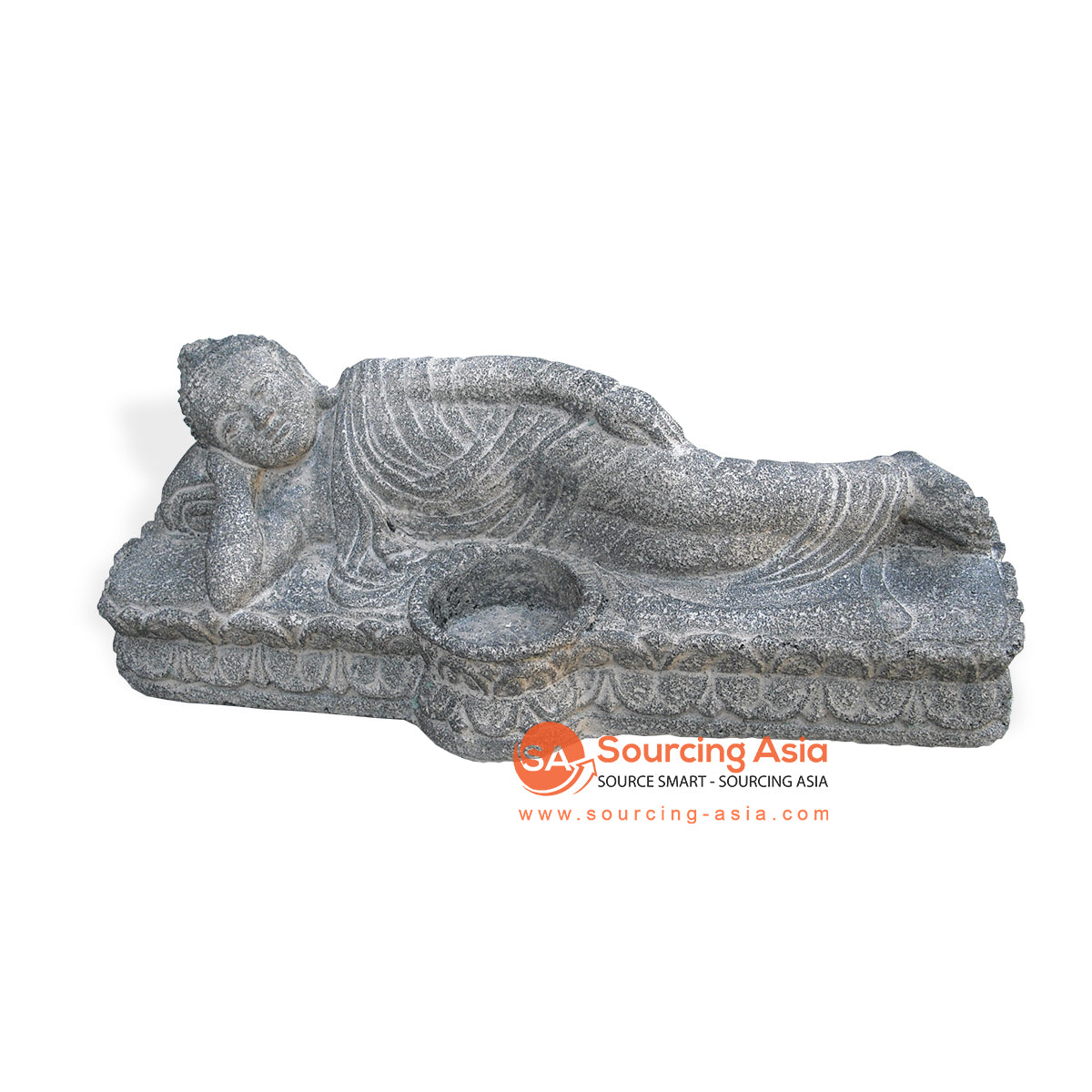 MHB090 BUDDHA STATUE WITH CANDLE HOLDER
