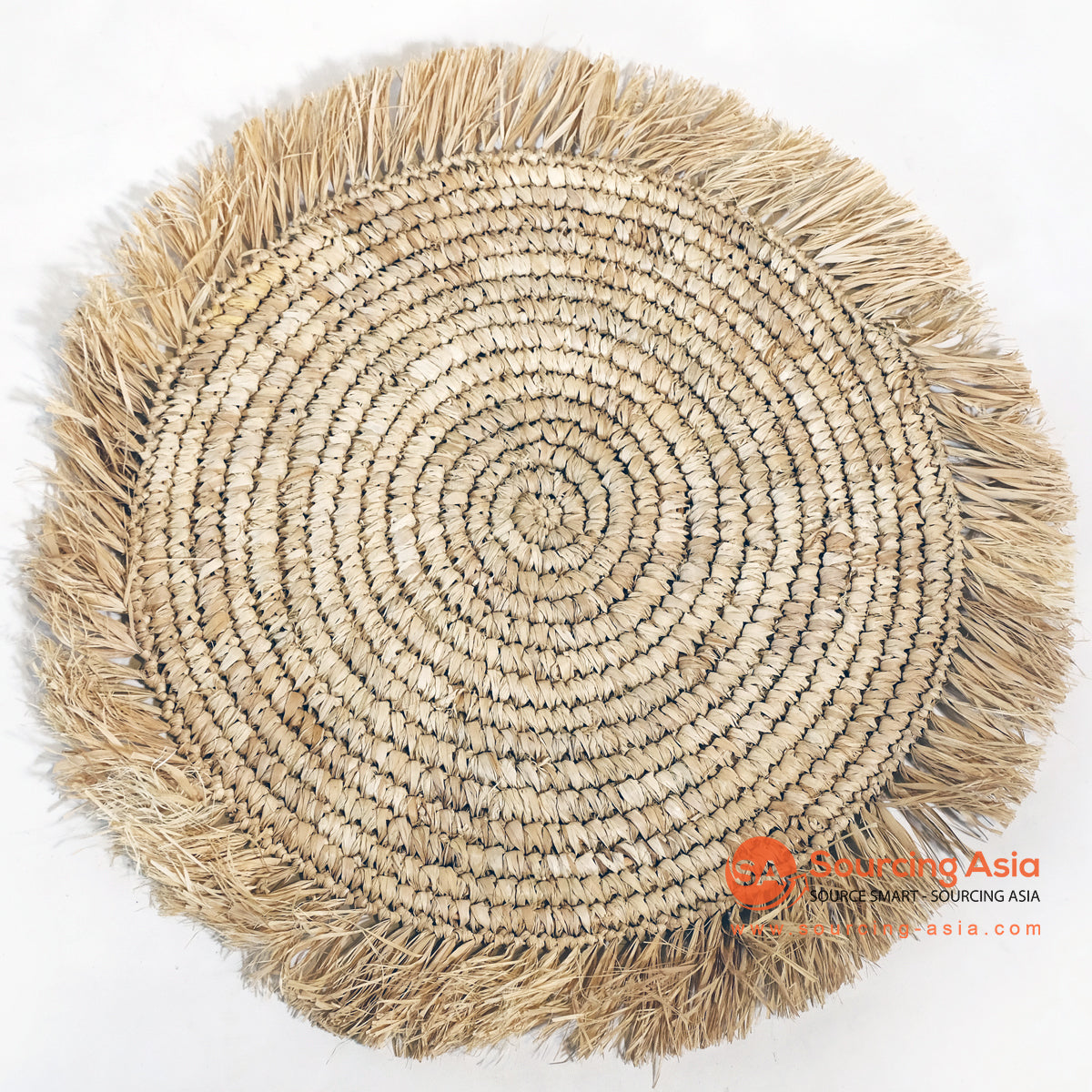 MRC012 NATURAL RAFFIA PALM ROUND PLACEMAT