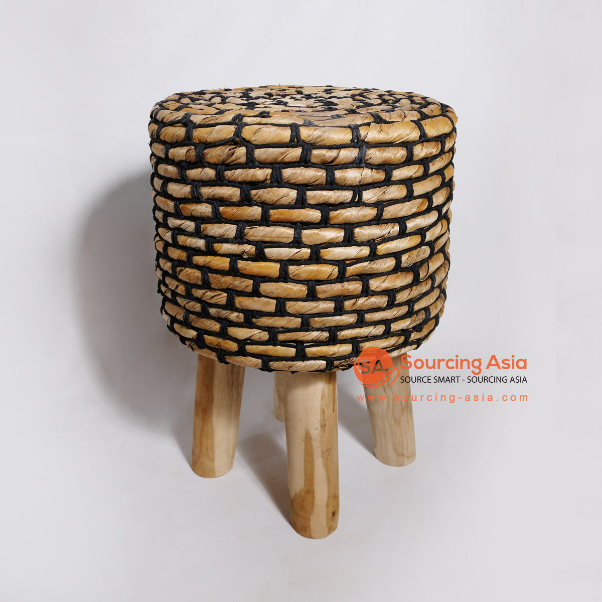 MRC052 WOODEN STOOL WITH BANANA FIBER SEAT