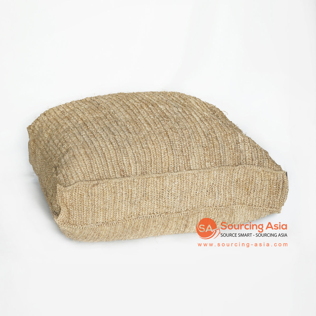 MRC135 NATURAL PALM RAFFIA SQUARE POUFFE