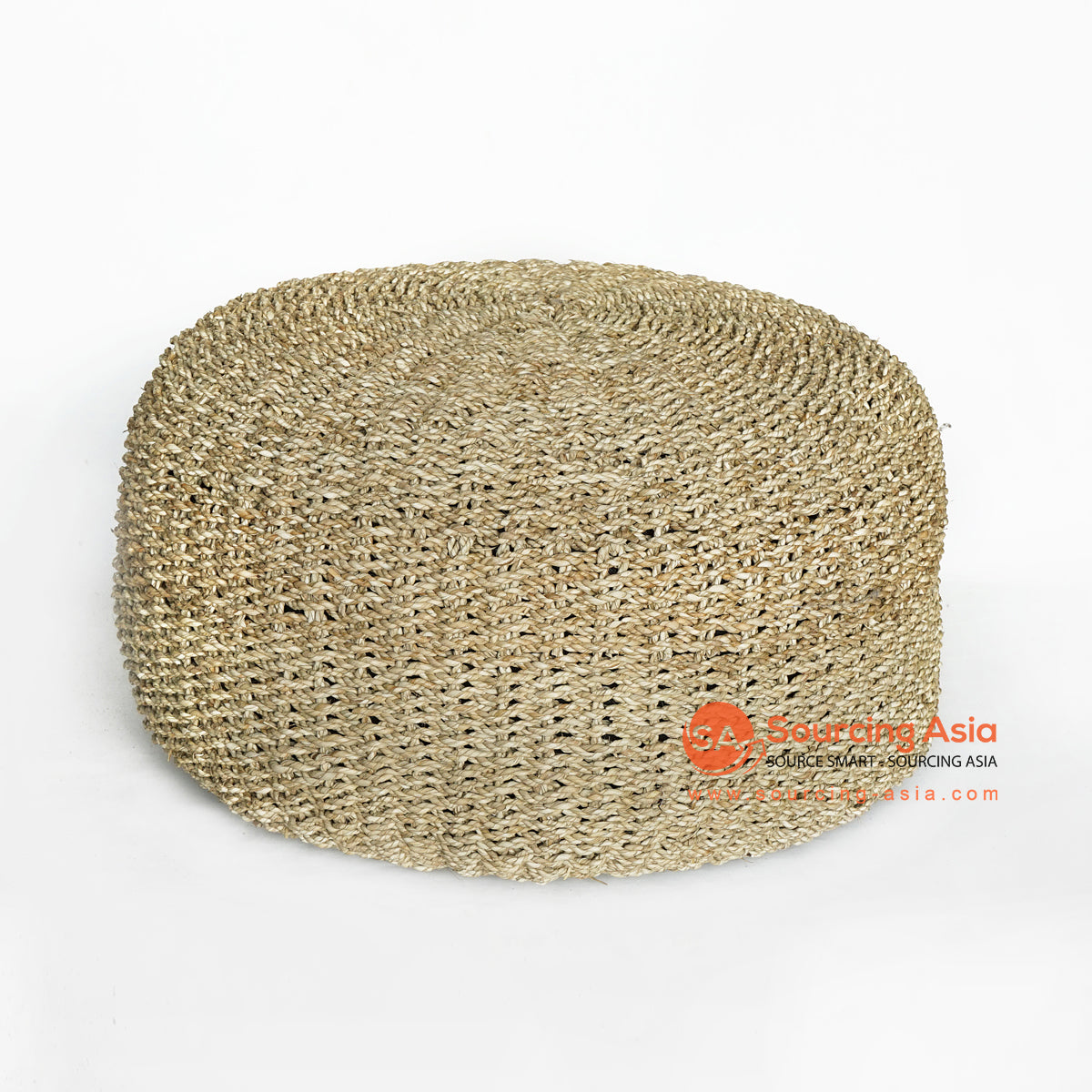 MRC140 NATURAL SEAGRASS ROUND POUFFE