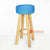 MRC147 WOODEN STOOL WITH BLUE SEAGRASS SEAT