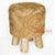 MRC152 NATURAL WOODEN ROUND STOOL WITH BANANA FIBER SEAT
