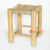 MRC154 NATURAL WOODEN SQUARE STOOL WITH SEAGRASS SEAT