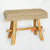 MRC157 NATURAL WOODEN RECTANGULAR STOOL WITH RAFFIA PALM SEAT