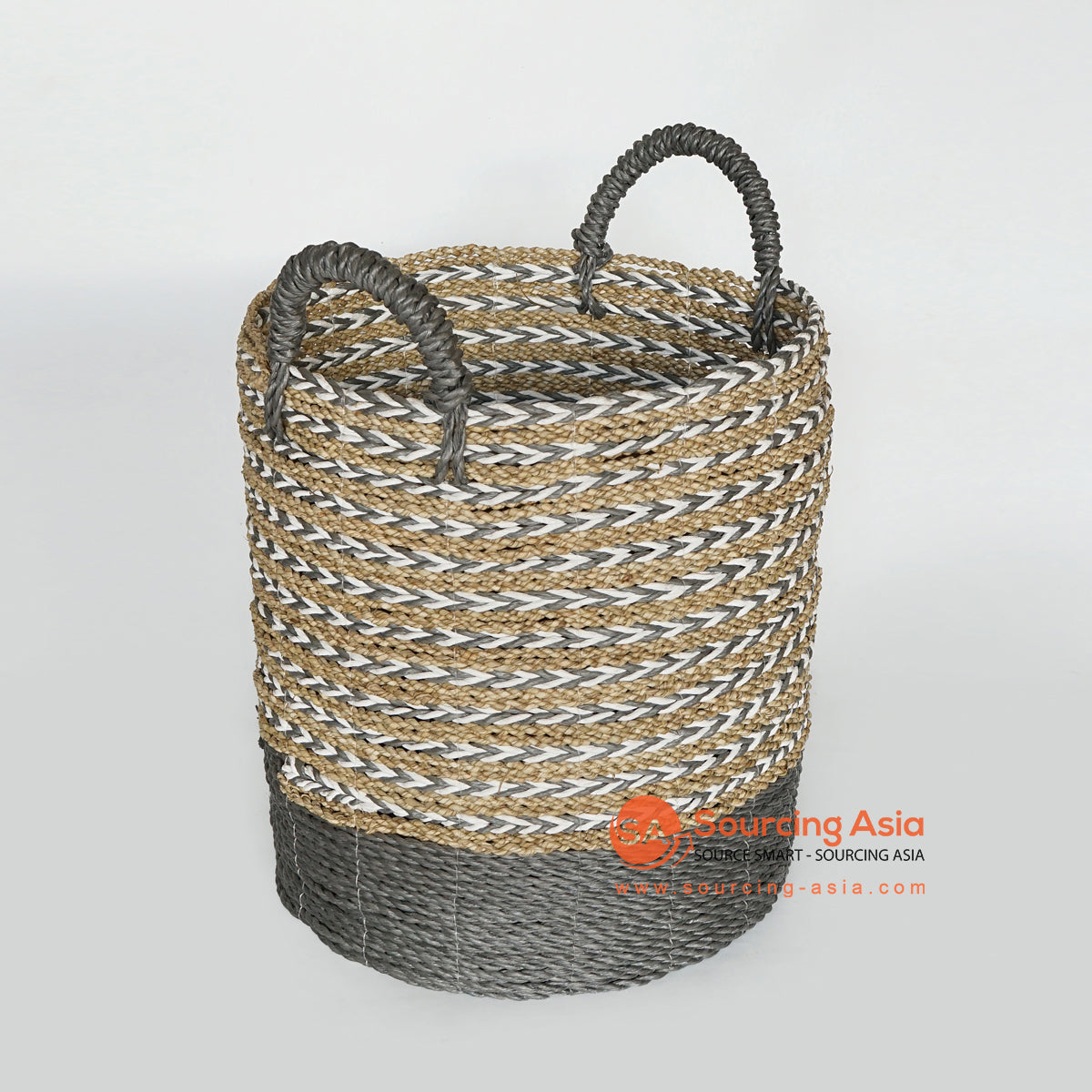 MRC168 MULTICOLOR SEAGRASS BASKET WITH HANDLE