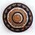 MRC229 NATURAL BANANA FIBER ROUND WALL DECORATION WITH BLACK AND WHITE ROPE