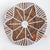 MRC262 NATURAL ROUND BANANA FIBER WALL DECORATION WITH WHITE MACRAME