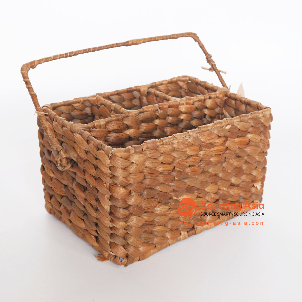 MRC270 NATURAL WATER HYACINTH UTENSIL CADDY BASKET
