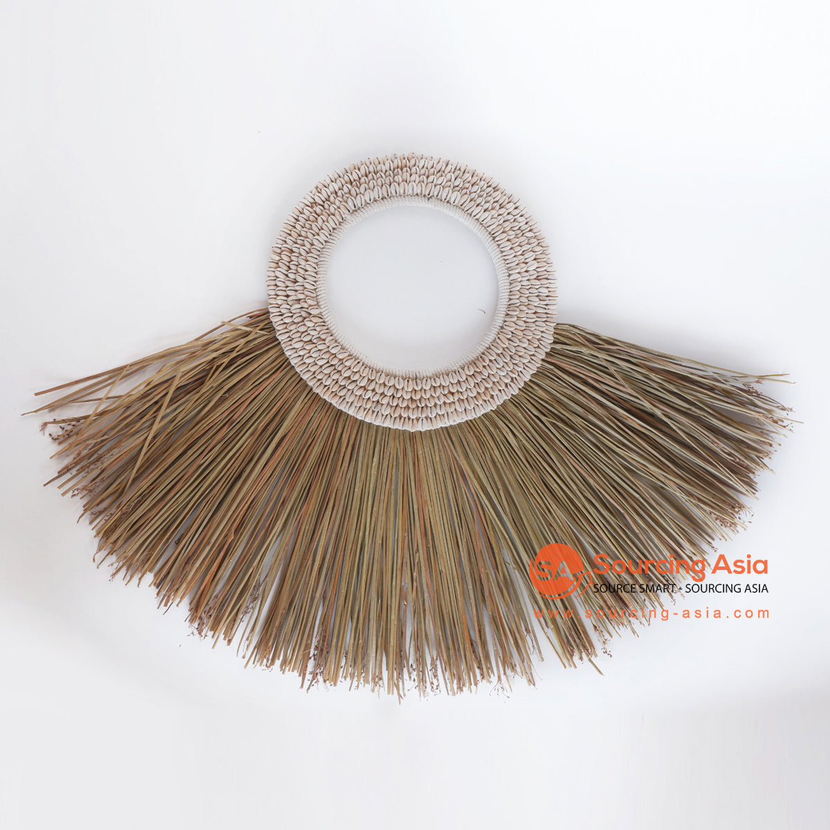 MRC275 NATURAL REED AND SHELL WALL DECORATION
