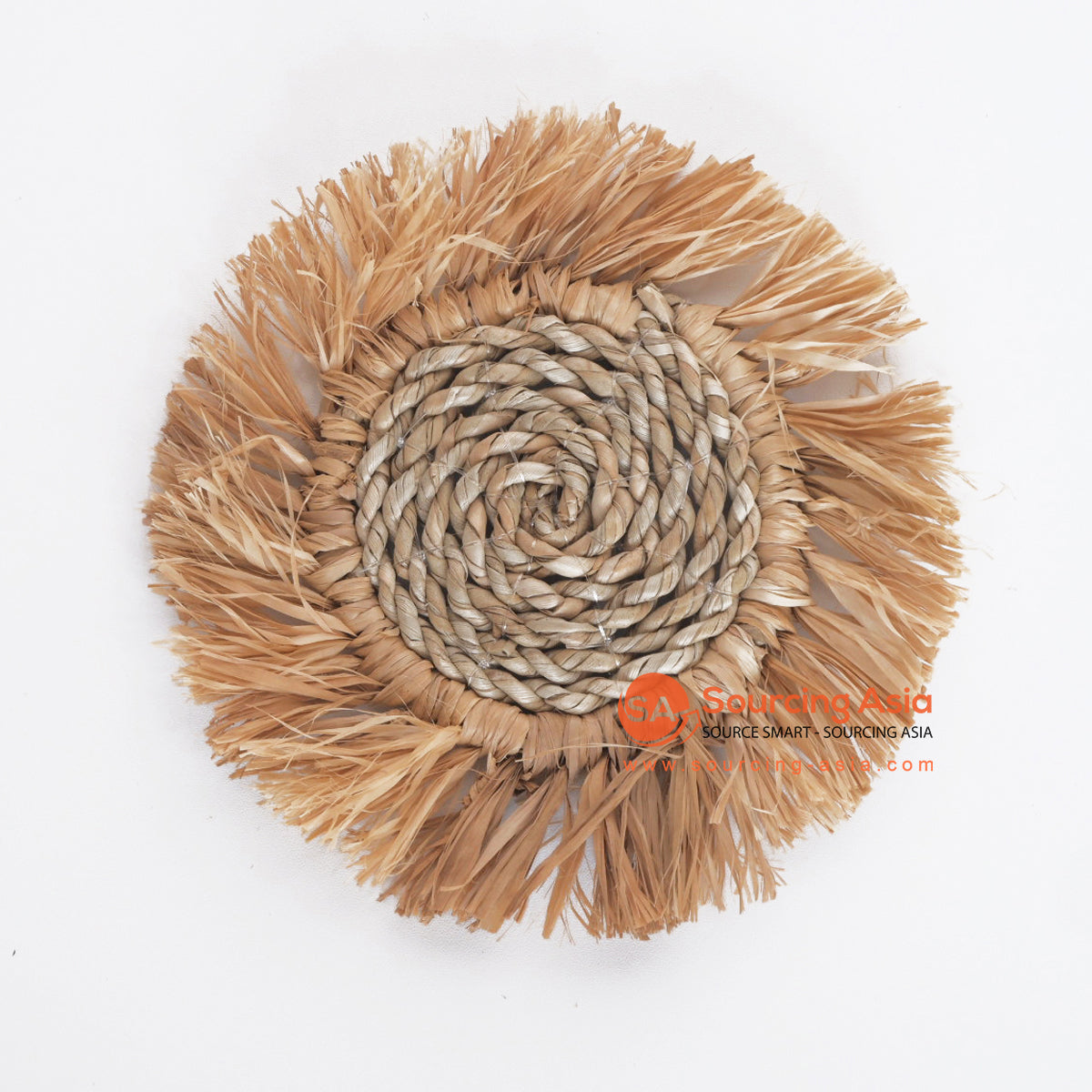 MRC287 NATURAL PALM RAFFIA AND SEAGRASS COASTER