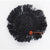 MRC288 BLACK RAFFIA ROUND COASTER WITH FRINGE