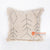 MRC310 NATURAL COTTON COVER CUSHION WITH BLACK HANDSTITCHED AND FRINGE