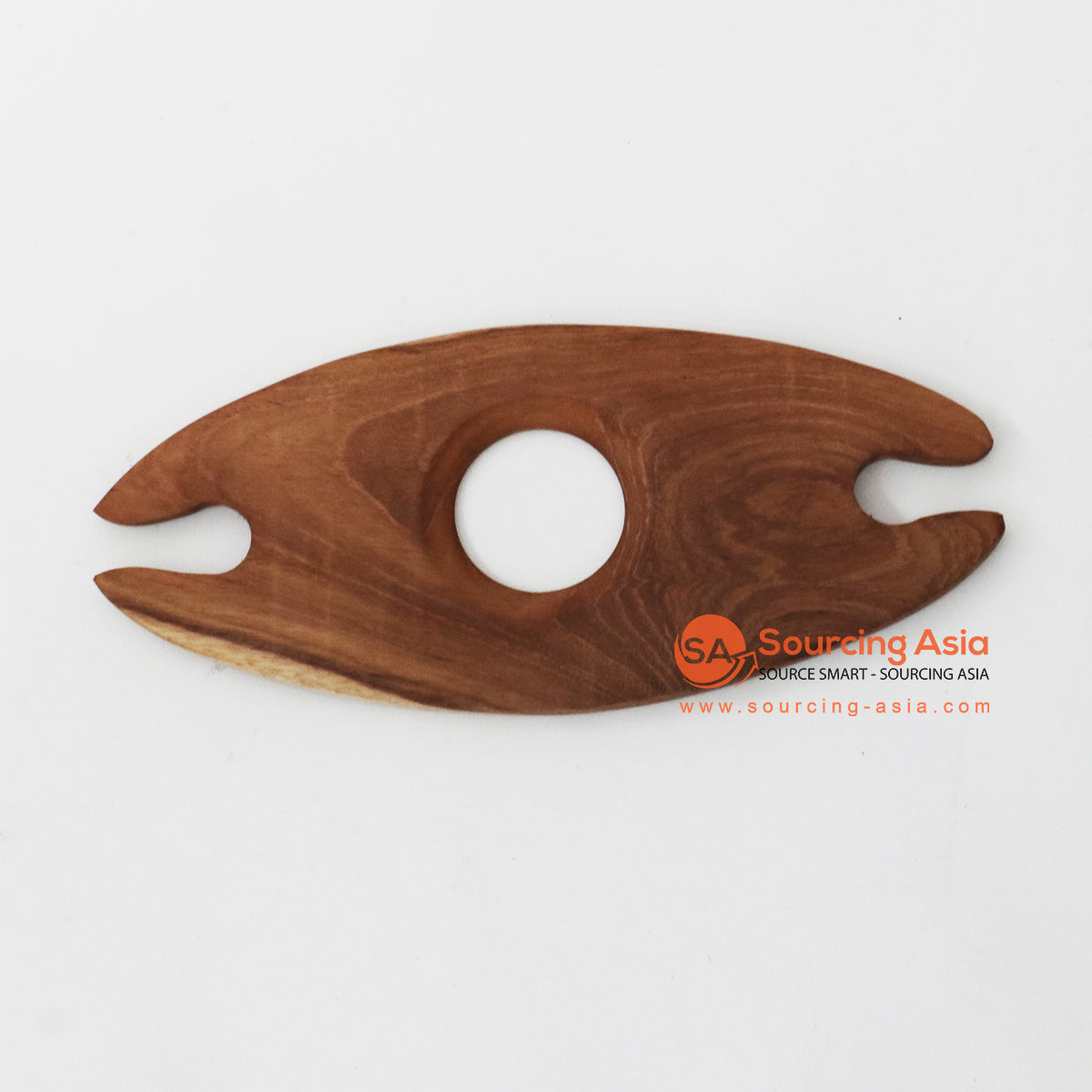 MSB001 TEAK WOOD 2 WINE GLASS HOLDER