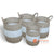 MTI109 SET OF 4 LAUNDRY BASKETS