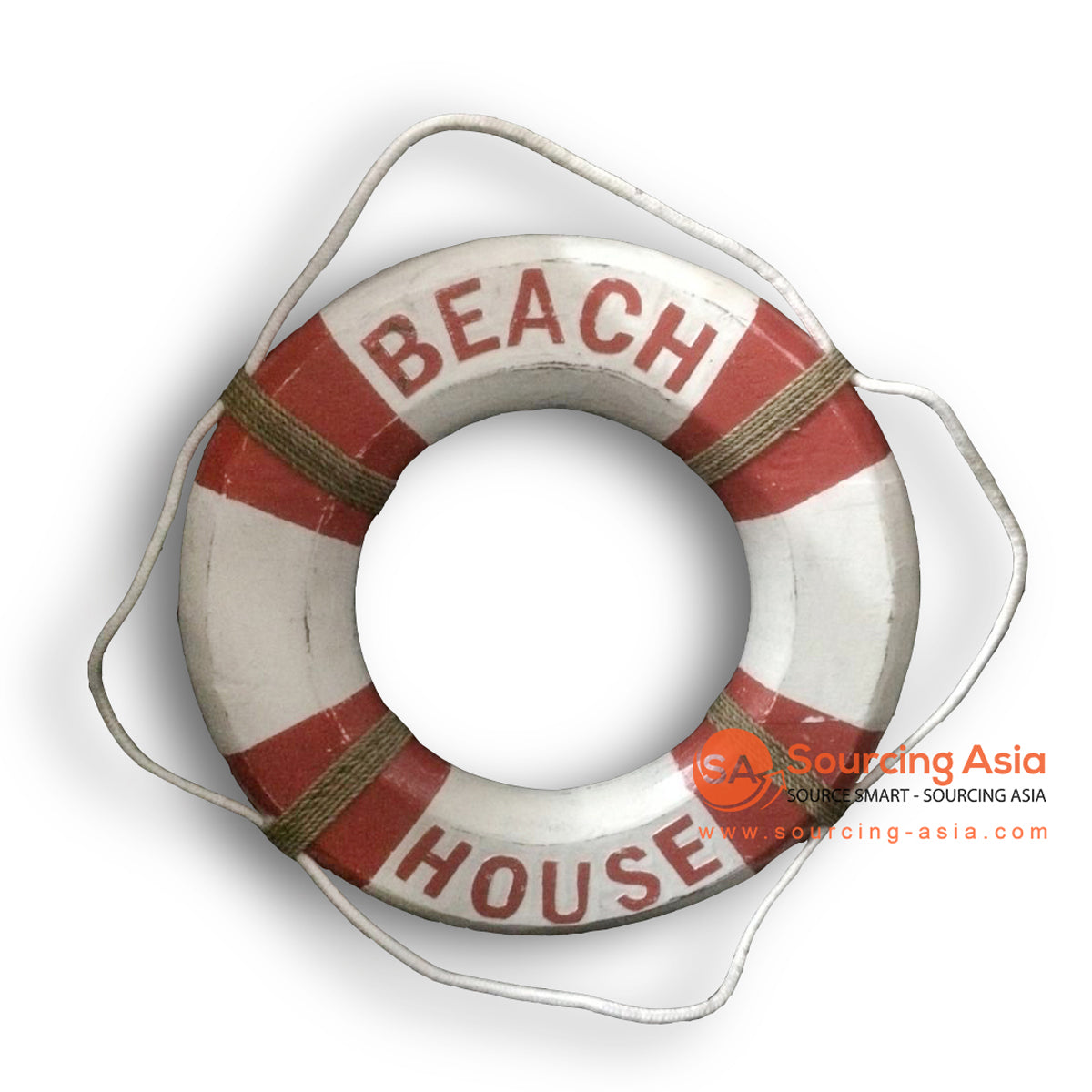 MTIB002 LIFE BUOY RING BEACH HOUSE RED