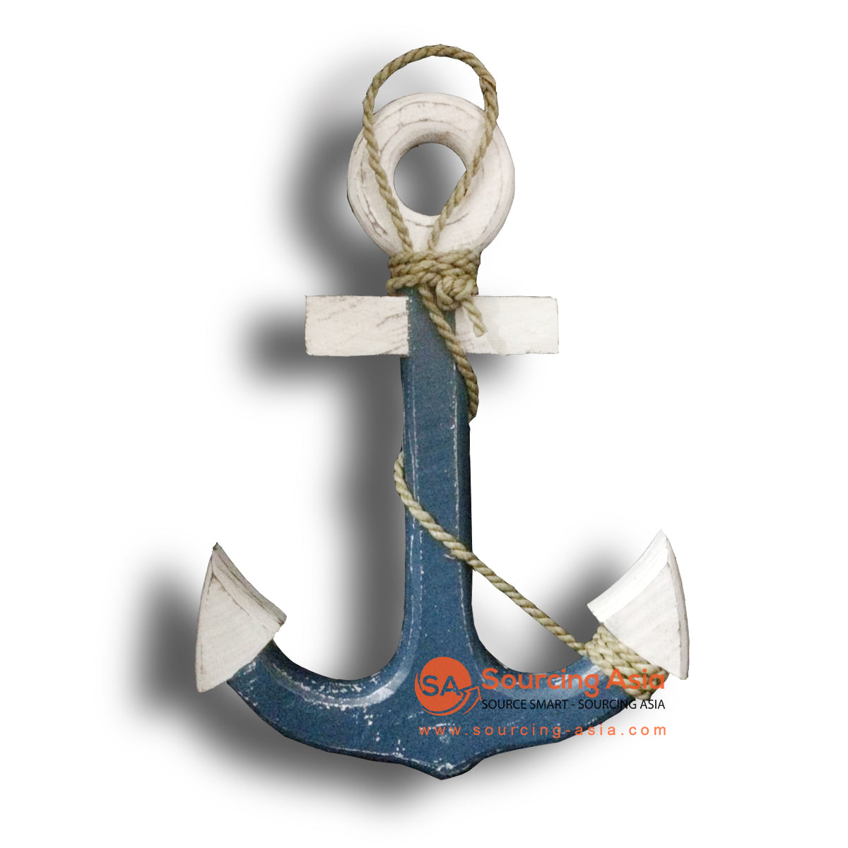 MTIB010-3 ANCHOR BLUE & WHITE WITH ROPE