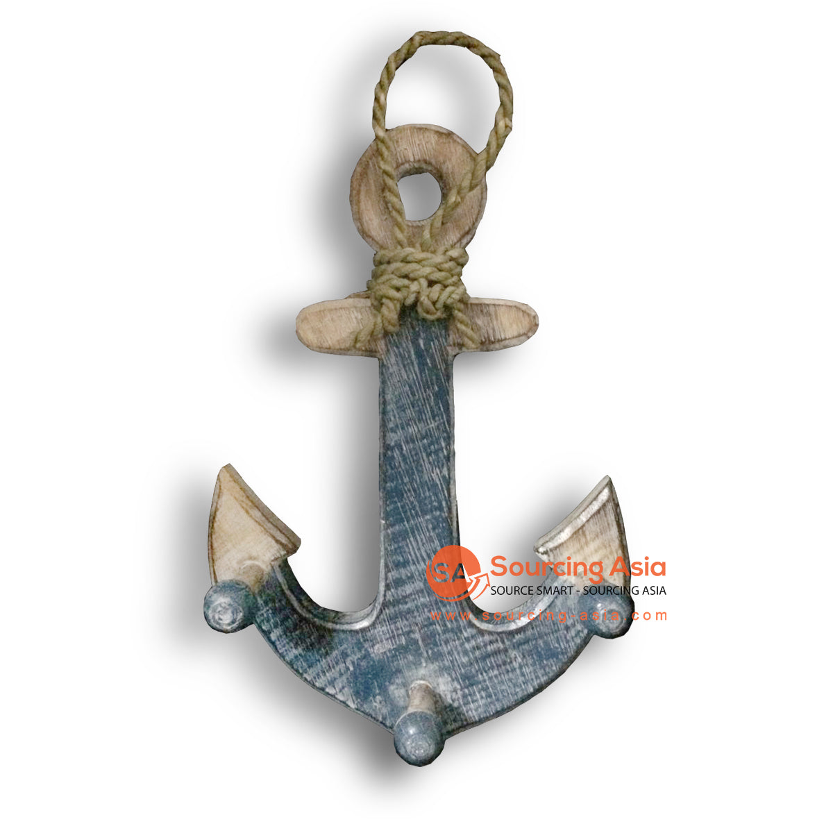 MTIB010-6 ANCHOR BLUE AND NATURAL WITH ROPE