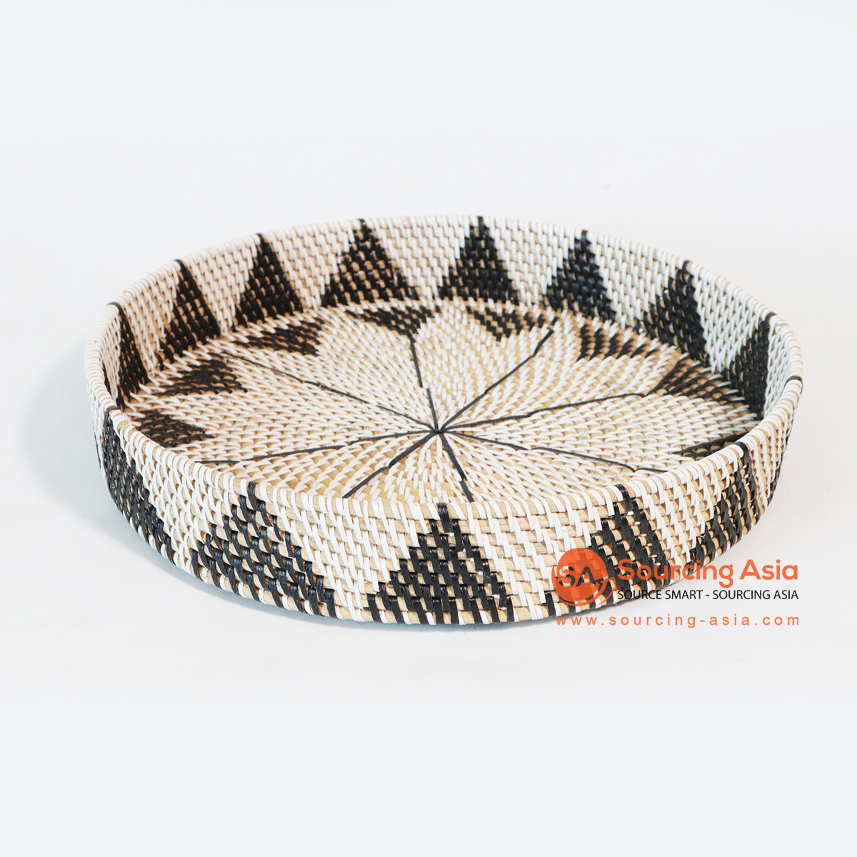 MTIC012 RATTAN AND PLASTIC TRAY