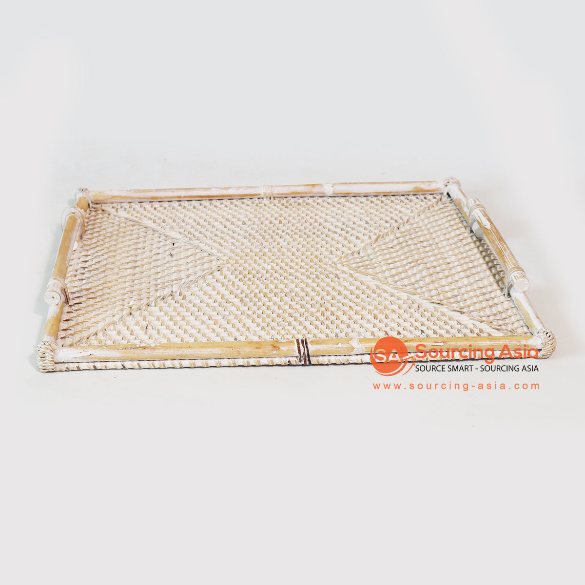 MTIC025-1 RATTAN TRAY WHITE WASH