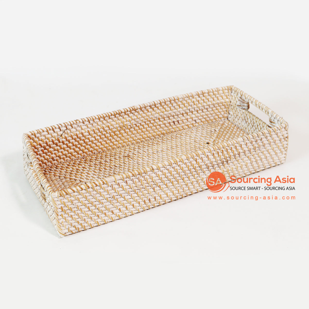 MTIC026 RATTAN TRAY WHITE WASH