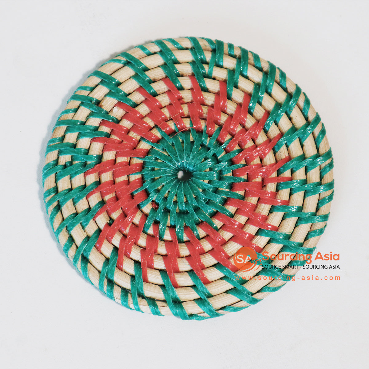 MTIC042-4 RATTAN AND PLASTIC COASTER