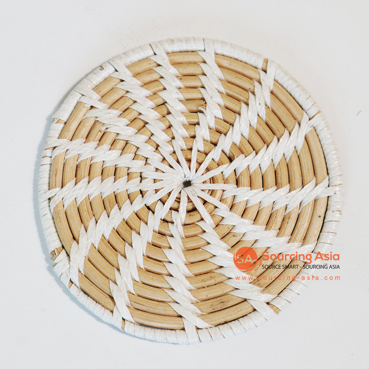 MTIC042 RATTAN AND PLASTIC COASTER