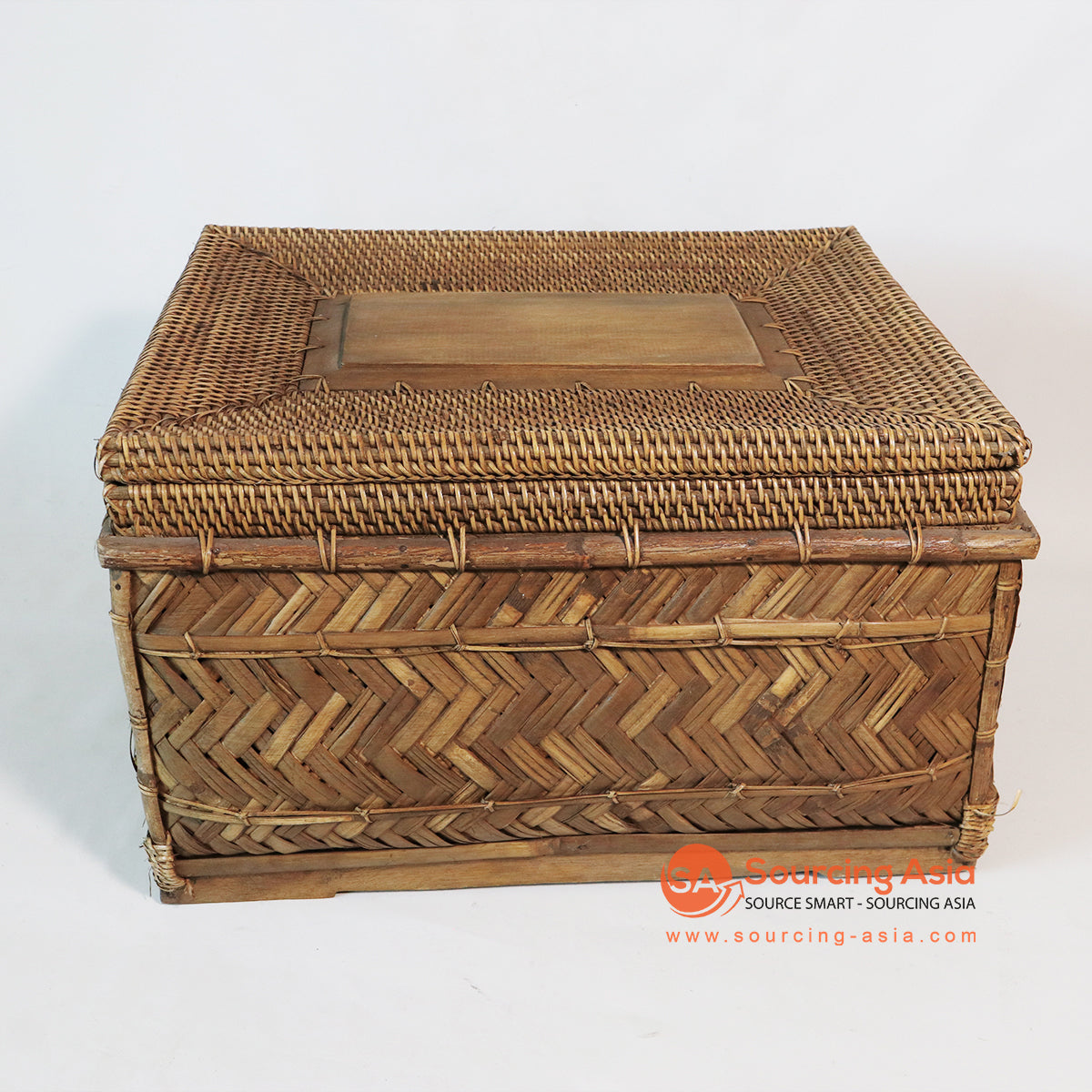 MTIC069 BAMBOO BASKET WITH RATTAN LID