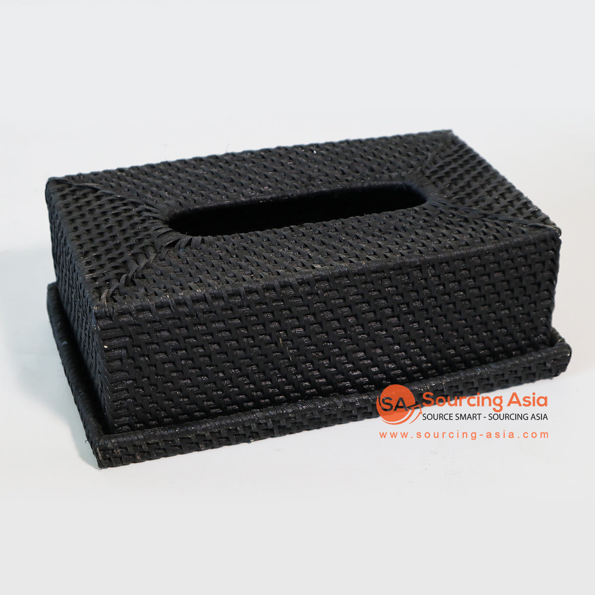 MTIC070-1 RATTAN TISSUE BOX COLOR BLACK