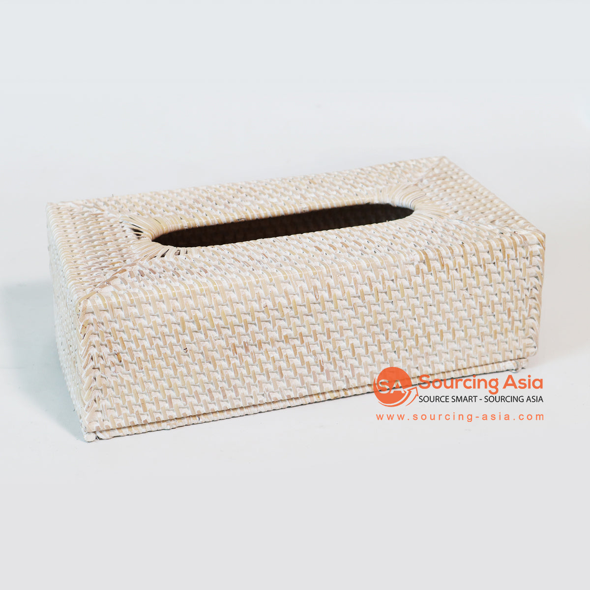 MTIC070-4 RATTAN TISSUE BOX COLOR WHITE WASH