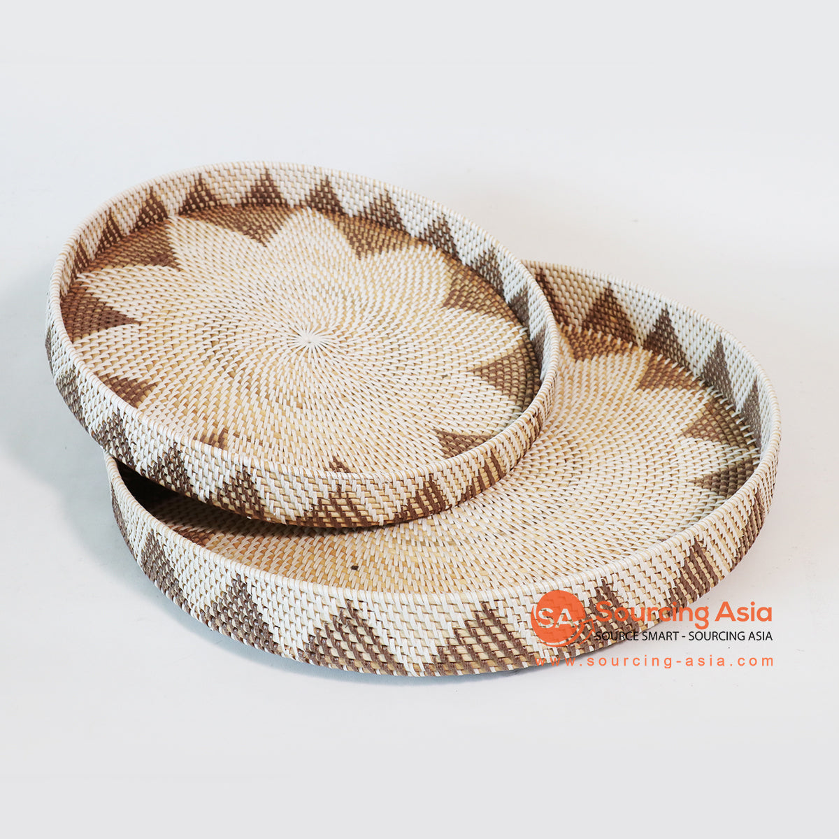 MTIC074-1 SETS OF 2 RATTAN TRAYS
