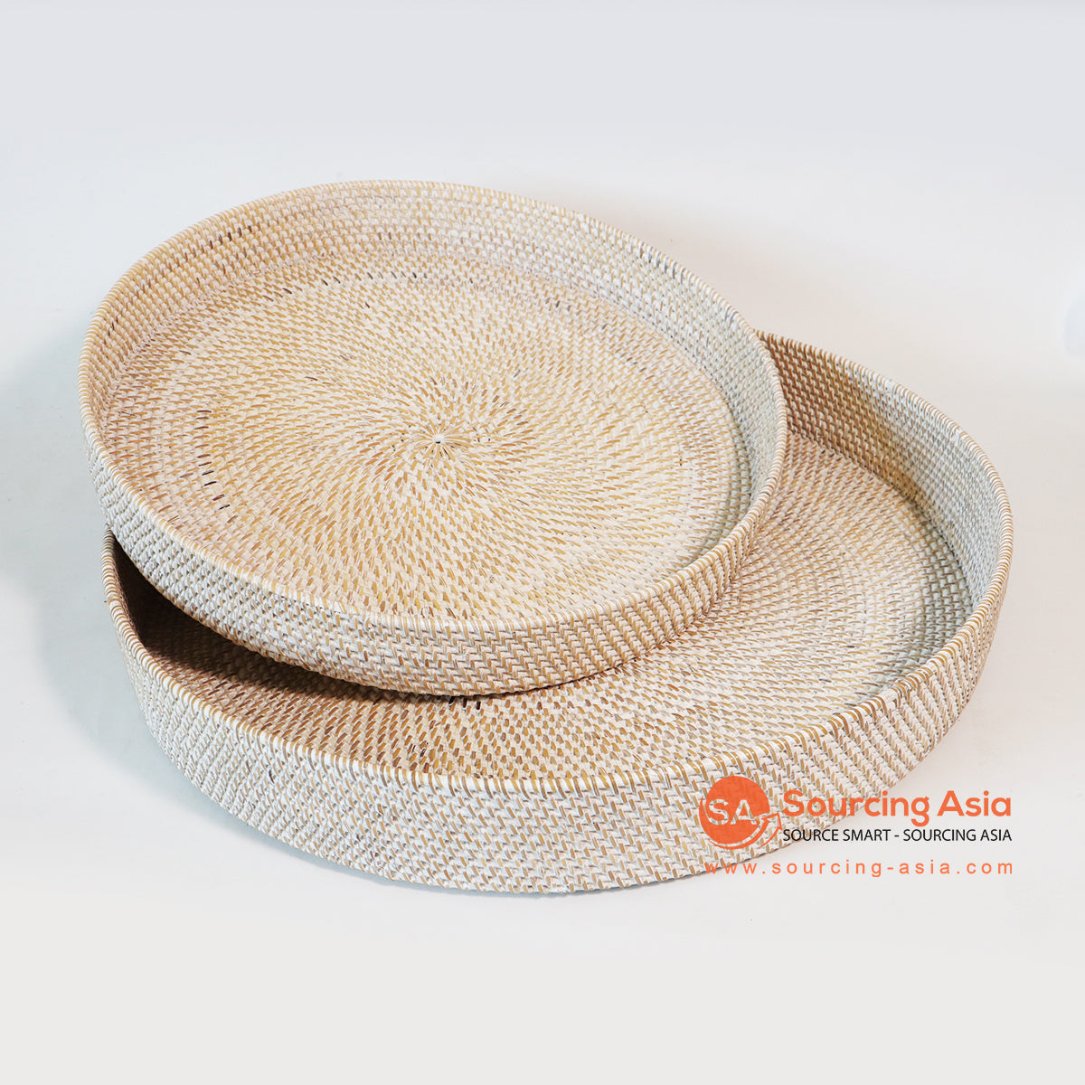 MTIC074 SET OF 2 RATTAN TRAYS