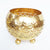 MULC029 GOLD COCONUT BOWL WITH LEGS